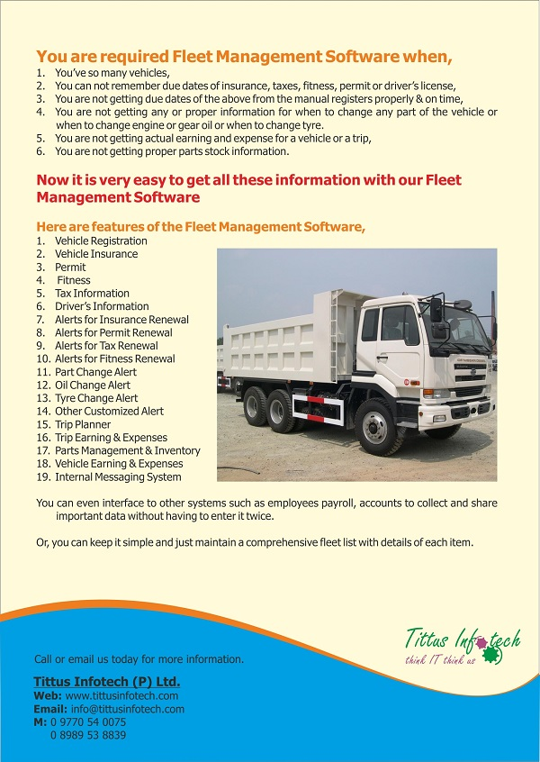 Product Brochure of Tittus Infotech for eTrans - Page 2