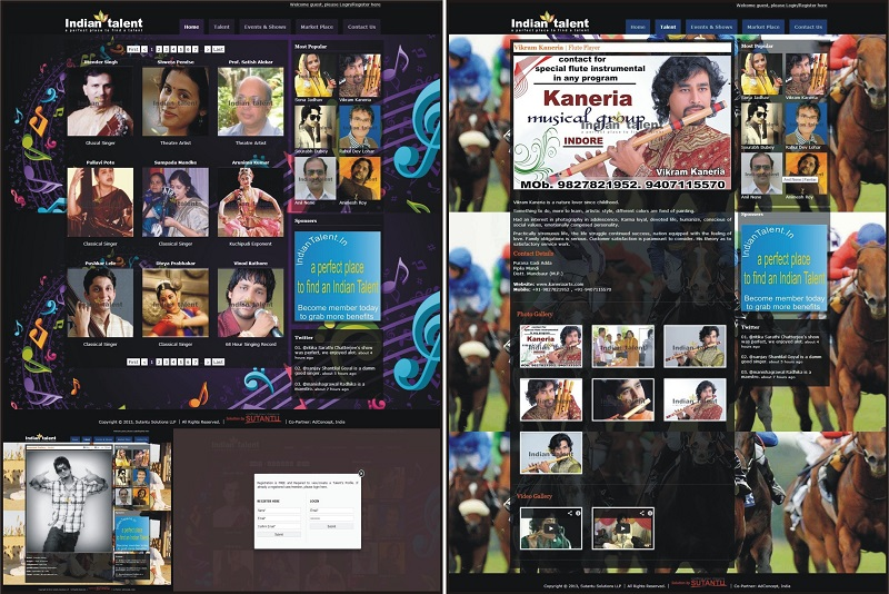 Website for Indian Talent - www.indiantalent.in