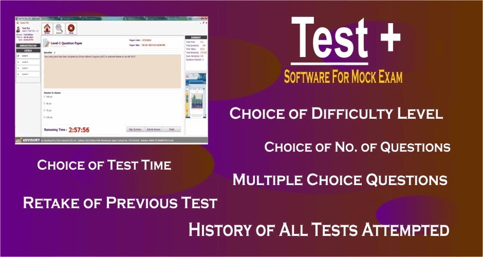Test + (Software for Mock Exam)